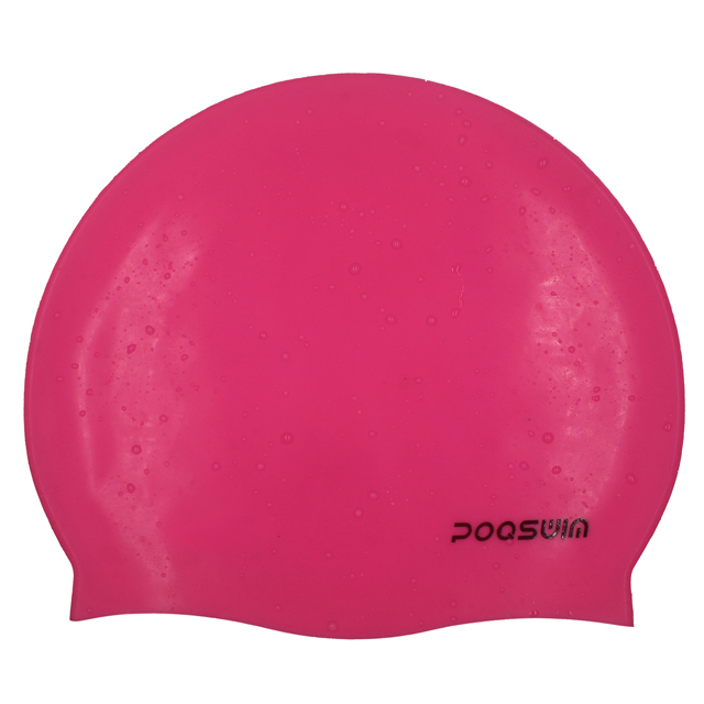 POQSWIM Calssic Swim Cap Waterproof Silicone Swim Cap
